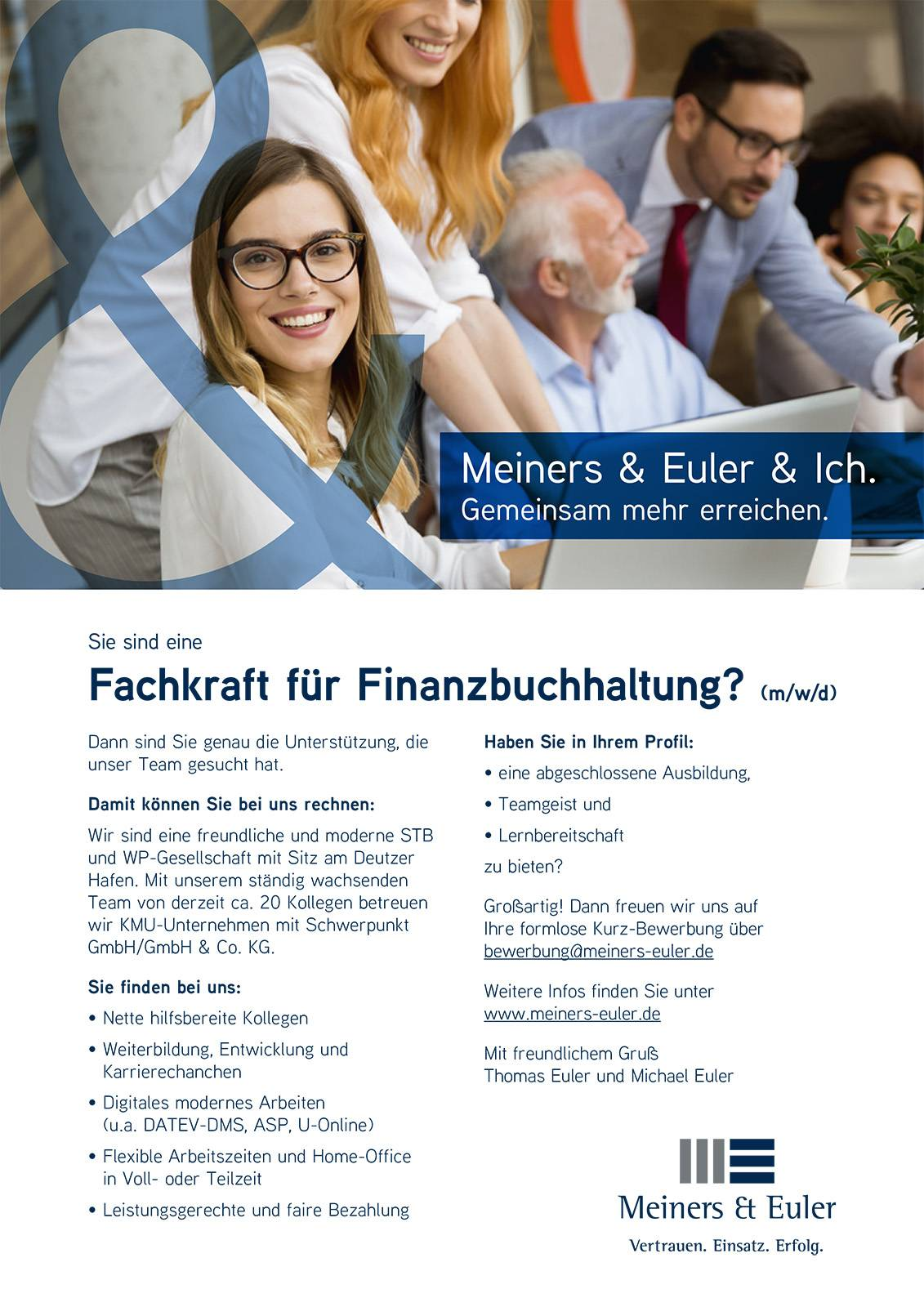 FINANZBUCHHALTER/IN bei Meiners & Euler